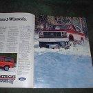 1984 1985 FORD BRONCO BRONCO II VINTAGE CAR TRUCK AD