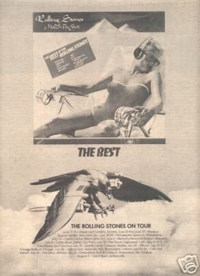 THE ROLLING STONES THE BEST OF TOUR FLYER AD 1975