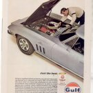 1966 GULFPRIDE GULF PRIDE OIL CORVETTE AD