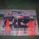1985 1986 LINCOLN CONTINENTAL MARK VII CAR AD 2-PAGE