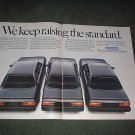 1985 1986 HONDA ACCORD VINTAGE CAR AD 2-PAGE