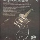 1980 GIBSON GUITAR SONEX SERIES POSTER TYPE AD