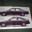 1985 1986 HONDA ACCORD LXi SEDAN- HATCHBACK CAR AD