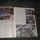 1977 dodge colt challenger original road test car ad