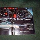 1977 HONDA ACCORD VINTAGE CAR AD 2-PAGE