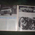 1977 MERCEDES BENZ 280E 280 E ROAD TEST CAR AD