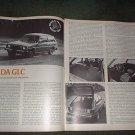 1977 MAZDA GLC ROAD TEST CAR AD 4-PAGE