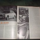 1977 DATSUN 810 SEDAN ROAD TEST CAR AD 4-PAGE