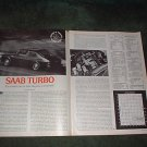1977 SAAB TURBO ROAD TEST 3-PAGE