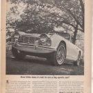 * 1962 TRIUMPH TR4 TR-4 TR 4 VINTAGE CAR AD