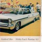 * 1963 PONTIAC CATALINA BONNEVILLE CAR AD 2-PAGE