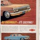 * 1963 CHEVY IMPALA BEL AIR VINTAGE CAR AD 2-PAGE