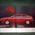 1982 VOLKSWAGEN SCIROCCO CAR AD 2-PAGE