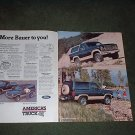 1985 FORD BRONCO/BRONCO II 4X4 TRUCK CAR AD 2-PAGE
