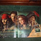 PIRATES OF THE CARIBBEAN 2-PAGE POSTER TYPE AD