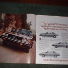 1982 1982 AUDI 4000 CAR AD 2-PAGE