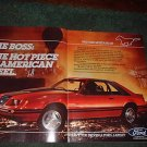 1983 FORD MUSTANG GT CAR AD 2-PAGE