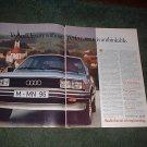 1982 1983 AUDI QUATTRO CAR AD 2-PAGE