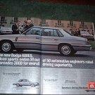 1983 DODGE 600 ES CAR AD 2-PAGE