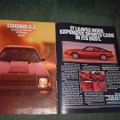 1982 1983 PLYMOUTH TURISMO CAR AD 2-PAGE