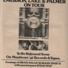 * 1973 EMERSON LAKE & PALMER BRAIN SALAD PROMO TOUR AD