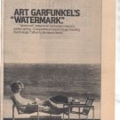 1978 ART GARFUNKEL WATERMARK PROMO AD