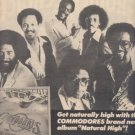 * 1978 THE COMMODORES POSTER TYPE TOUR AD