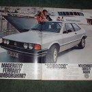 1980 VOLKSWAGEN SCIROCCO CAR AD