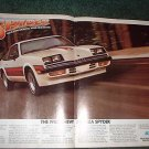 1980 CHEVY MONZA SPYDER CAR AD