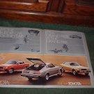 1976 TOYOTA CELICA VINTAGE CAR AD 2-PAGE