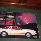 1977 FORD THUNDERBIRD VINTAGE CAR AD 2-PAGE