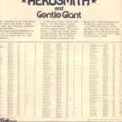 1975 AEROSMITH KING BISCUIT FLOWER HOUR PROMO AD