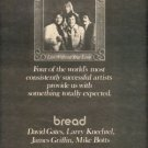 BREAD LOST WITHOUT YOUR LOVE PROMO AD 1977