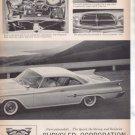 * 1960 CHRYSLER 300F 300 F VINTAGE CAR AD 2-PAGE
