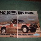 1983 CHEVY S-10 S 10 CAR TRUCK AD 2-PAGE