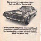 1968 MERCURY COUGAR AD