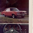 1974 OPEL MANTA RALLYE VINTAGE CAR AD 2-PAGE