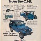 1975 1976 JEEP CJ-7 VINTAGE CAR AD