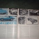 1968 CHEVY CORVETTE ARTICLE AD 5-PAGE
