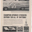 1966 BELVEDERE RICHARD PETTY CHAMPION SPARK PLUG AD