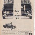 1966 1967 ALFA ROMEO VINTAGE CAR AD