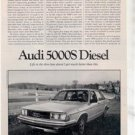1980 AUDI 5000S 5000 S DIESEL ROAD TEST AD 5-PAGE