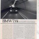 1980 1981 BMW 733i 733 i ROAD TEST AD 6-PAGE