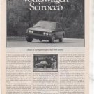 1980 1981 VOLKSWAGEN SCIROCCO ROAD TEST AD 5-PAGE