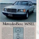 1980 1981 MERCEDES BENZ 380 SEL ROAD TEST AD 5-PAGE