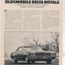 1970 1971 OLDSMOBILE DELTA ROYALE ROAD TEST AD 4-PAGE
