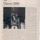 1970 1971 DATSUN 2000 VINTAGE ROAD TEST AD 5-PAGE
