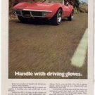 1970 1971 CHEVY CORVETTE VINTAGE CAR AD