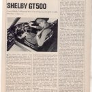 1967 1968 MUSTANG SHELBY GT500 GT 500 ROAD TEST AD 6-PG