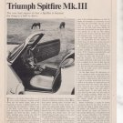 1967 1968 TRIUMPH SPITFIRE MK III ROAD TEST AD 5-PG
